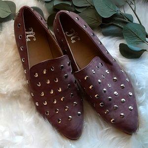 Studded Mauve Loafers